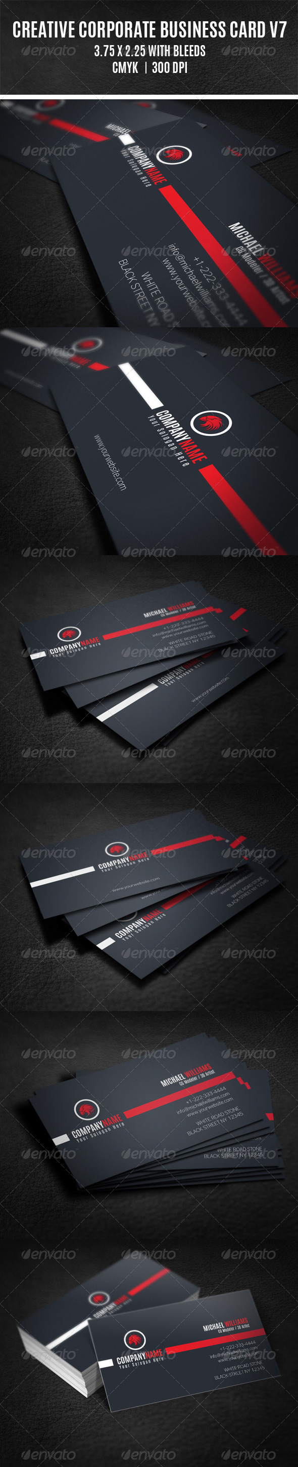 GraphicRiver Creative Corporate Business Card V7 8630937