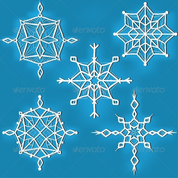 GraphicRiver Set of Ornate Snowflakes 8630941
