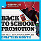 Back To School Promotion Commerce Flyer  - GraphicRiver Item for Sale
