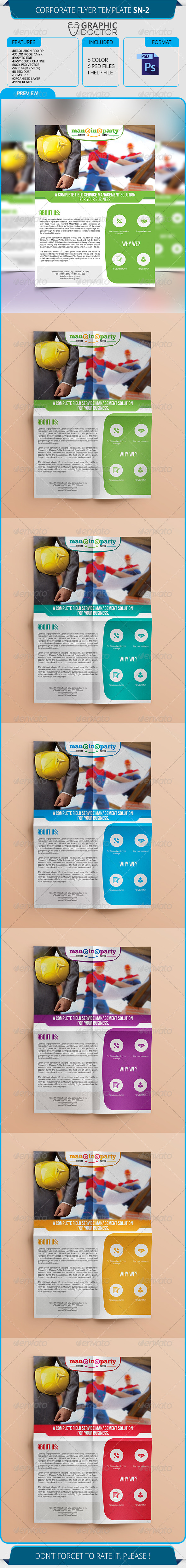 GraphicRiver Corporate Flyer Template SN-2 8631004