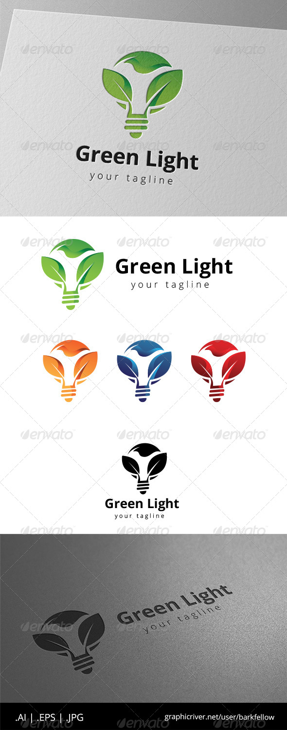 GraphicRiver Green Light Energy Logo 8631062