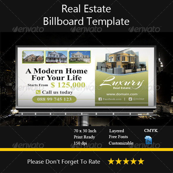GraphicRiver Real Estate Billboard Template 8631065