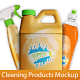 Bottles for Cleaning Products Mockup - GraphicRiver Item for Sale