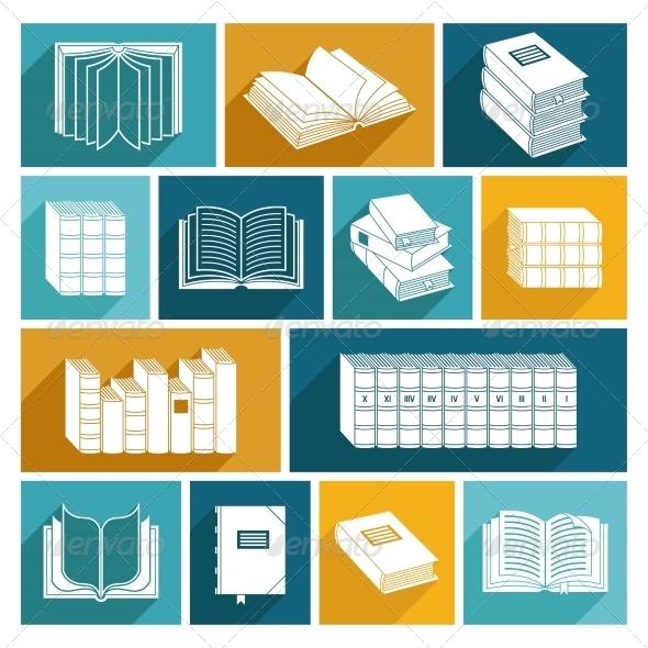 GraphicRiver Book Icons Set 8631131