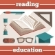 Education Reading Icons Set - GraphicRiver Item for Sale