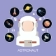 Astronaut and Space Icons - GraphicRiver Item for Sale