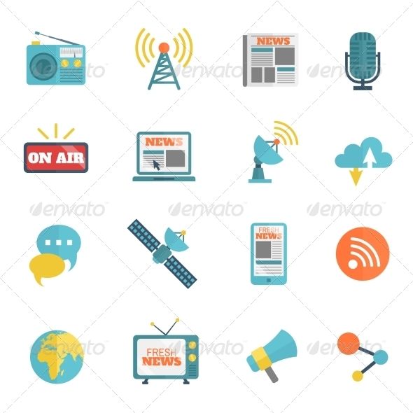 GraphicRiver Media Flat Icons 8631166