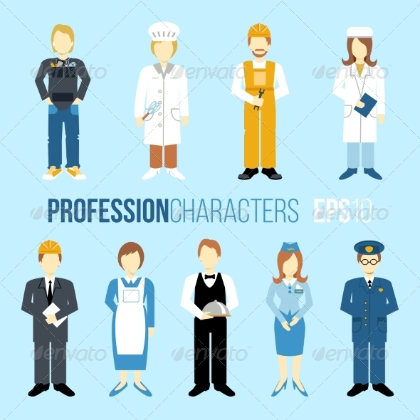 GraphicRiver Profession Characters Set 8631168
