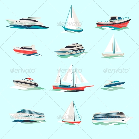 GraphicRiver Boat Icons Set 8631170