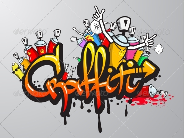 GraphicRiver Graffiti Characters Print 8631173