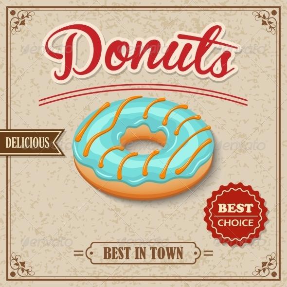 GraphicRiver Donut Retro Poster 8631176