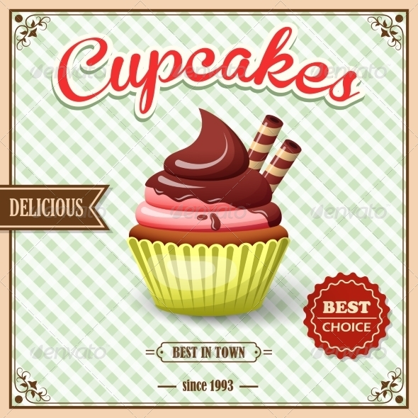 GraphicRiver Cupcake Cafe Poster 8631198