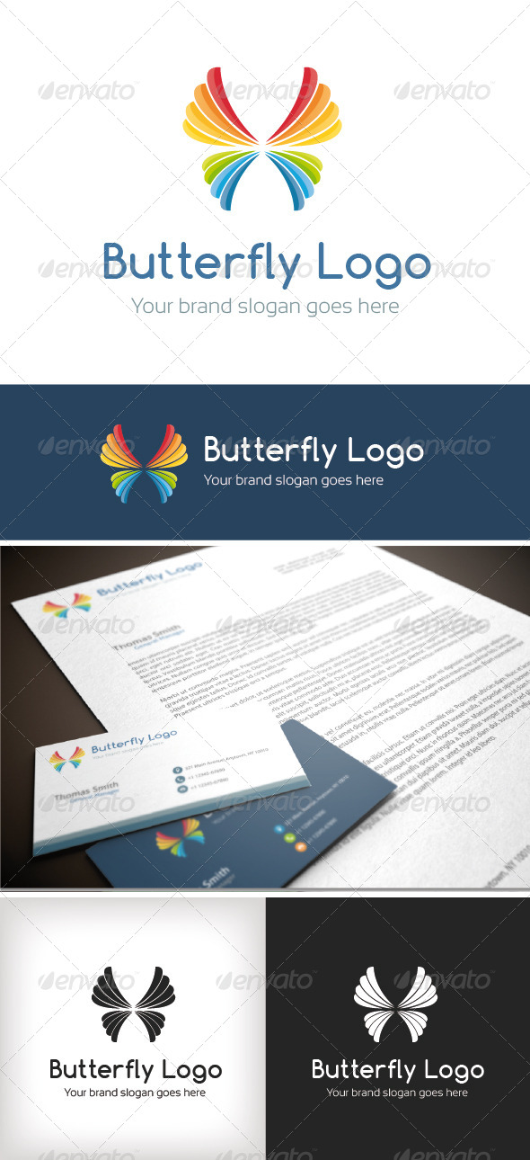 GraphicRiver Butterfly Logo Template 8631389