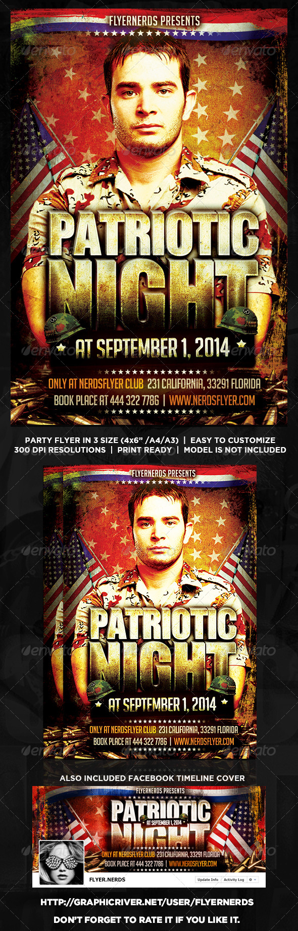 GraphicRiver Patriotic Day Party Flyer 8631428