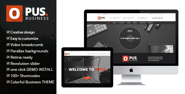 Opus - Multipurpose Business Wordpress Theme  - Business Corporate