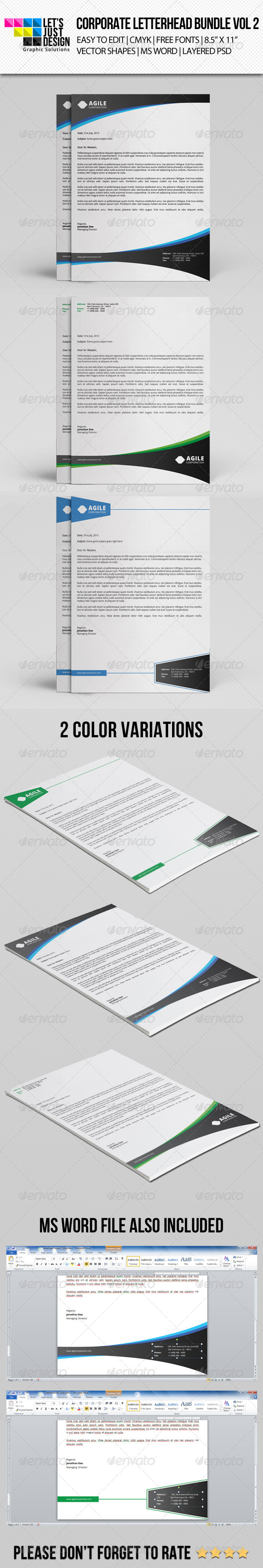 GraphicRiver Corporate Letterhead Bundle Vol 2 8631526
