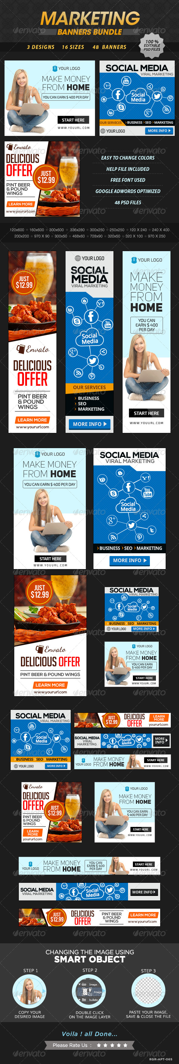 GraphicRiver Marketing Banner Bundle 3 Sets 8631562