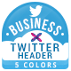 Business Twitter Headers - 5 Colors - GraphicRiver Item for Sale