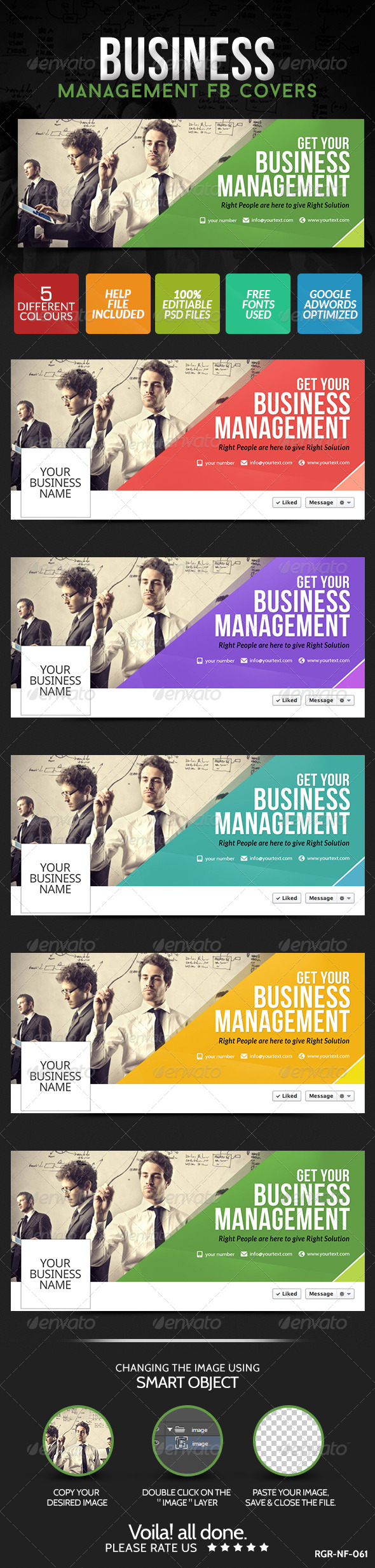 GraphicRiver Business Facebook Covers 5 Colors 8631794