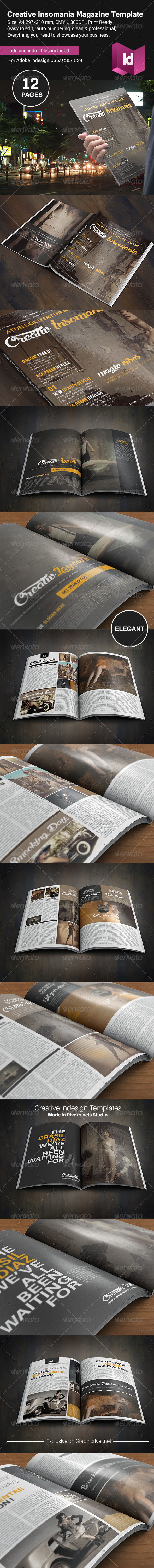 GraphicRiver Creative Insomania Magazine Template 8631795