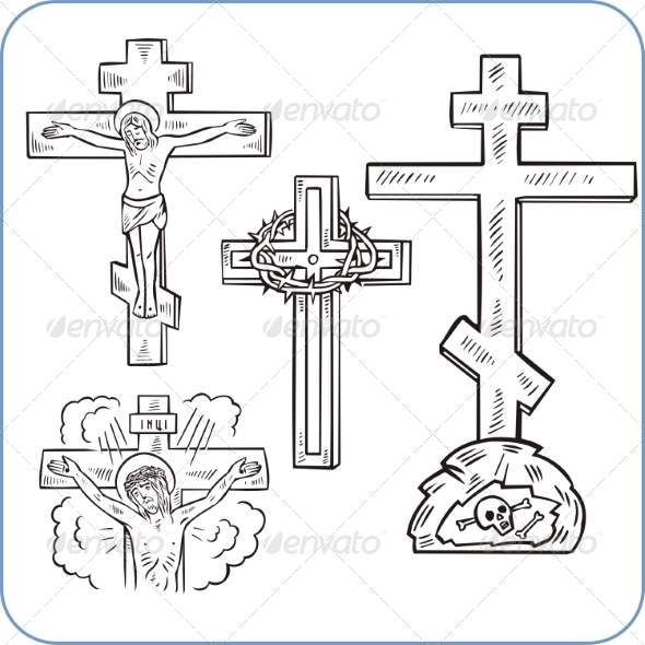 GraphicRiver Cross and Crucifix 8631815