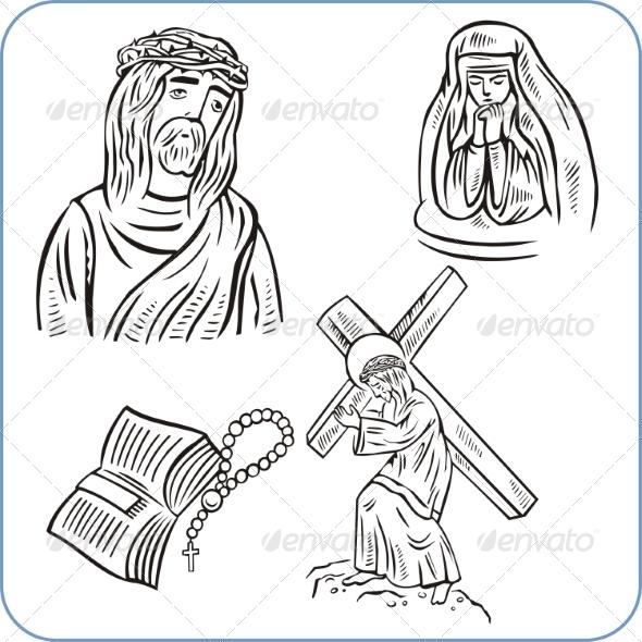 GraphicRiver Jesus Christ and Bible 8631823
