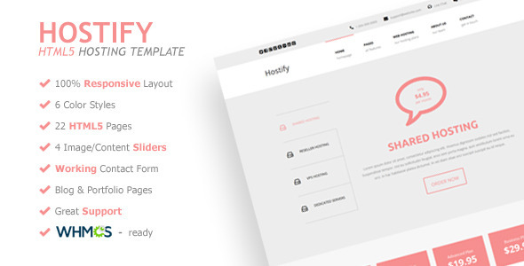 Hostify - Responsive HTML5 Hosting Template - Hosting Technology