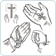 Hands and Crosses - GraphicRiver Item for Sale