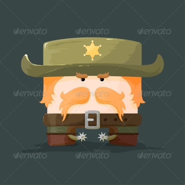 GraphicRiver Wild West Cartoon Sheriff 8632089