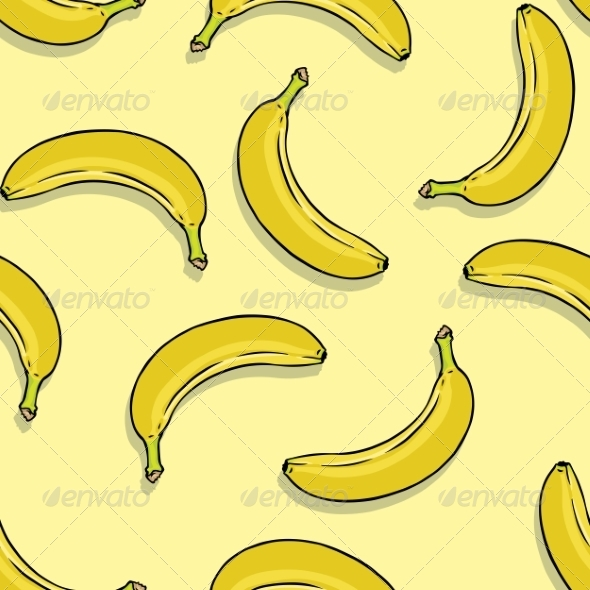 GraphicRiver Banana Seamless Pattern 8632275