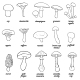 Mushroom Line Art - GraphicRiver Item for Sale