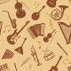 Seamless Pattern of Musical Instruments - GraphicRiver Item for Sale