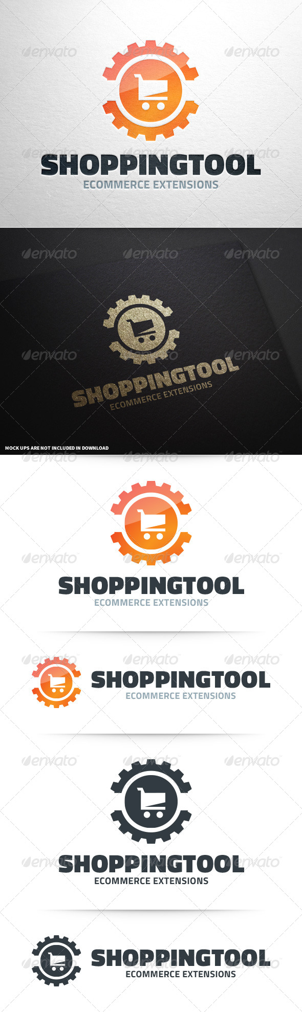 GraphicRiver Shopping Tool Logo Template 8632488