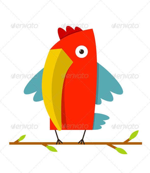 GraphicRiver Toucan Bird with Big Beak Standing 8632491