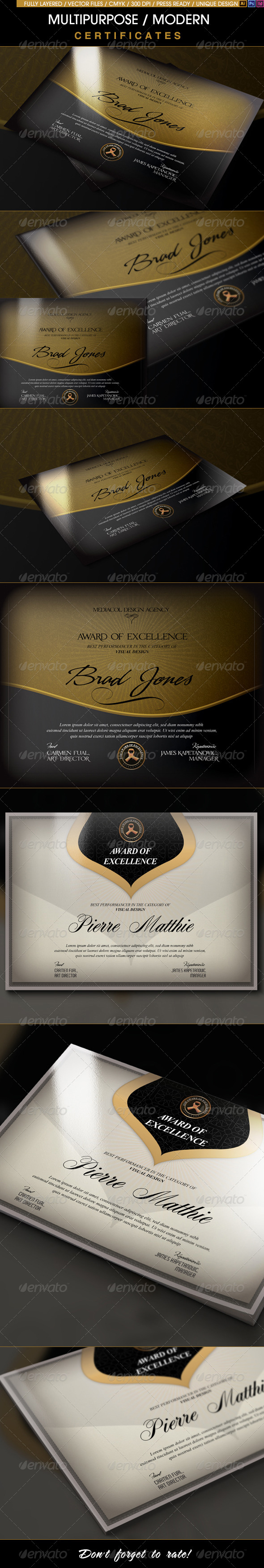 GraphicRiver A Great Deal Multipurpose Modern Certificates 8632510