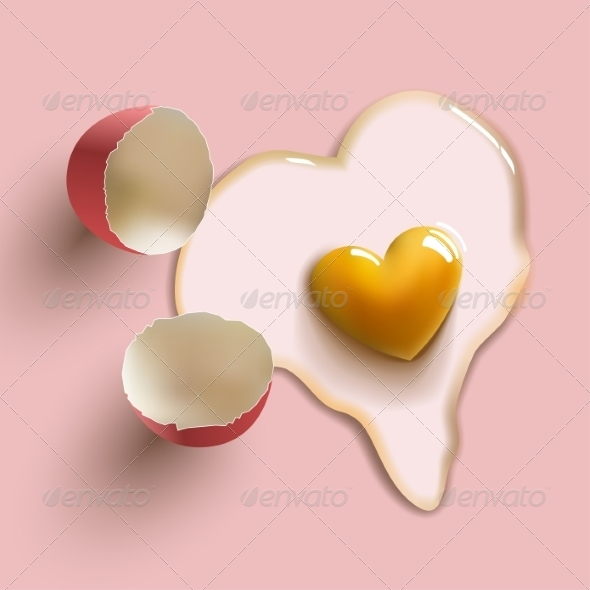 GraphicRiver Heart Shaped Egg 8632518