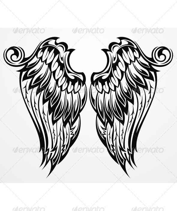 GraphicRiver Tattoo Wings 8632604