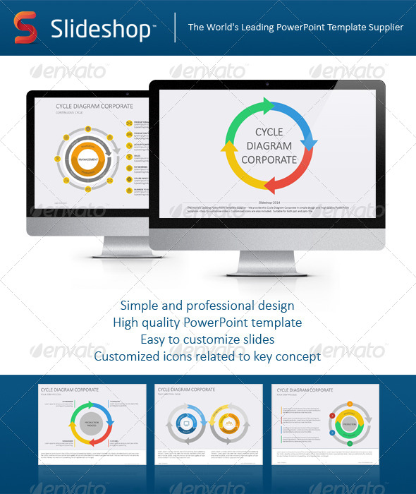 GraphicRiver Cycle Diagram Corporate Flat 8632734