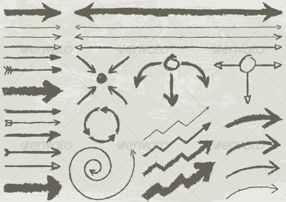 GraphicRiver Set of arrows 8623477