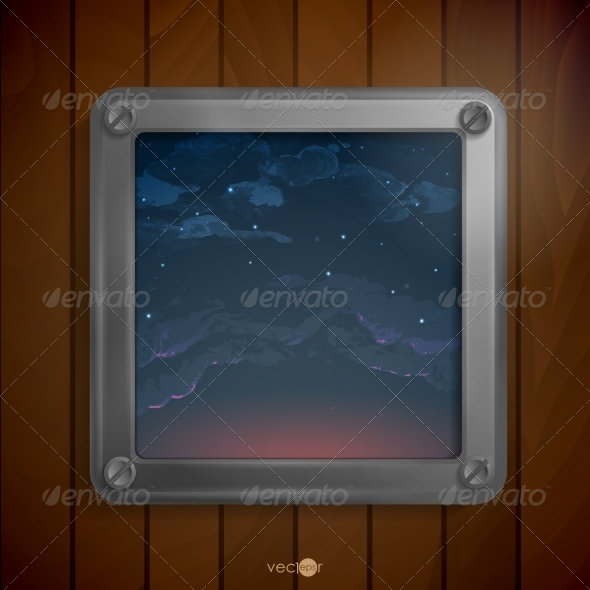 GraphicRiver Metallic Frame with Screws 8633035