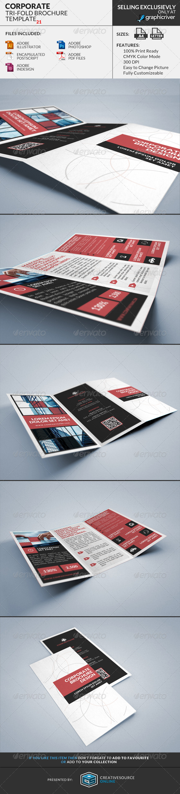 Corporate Tri-Fold Brochures Template 21