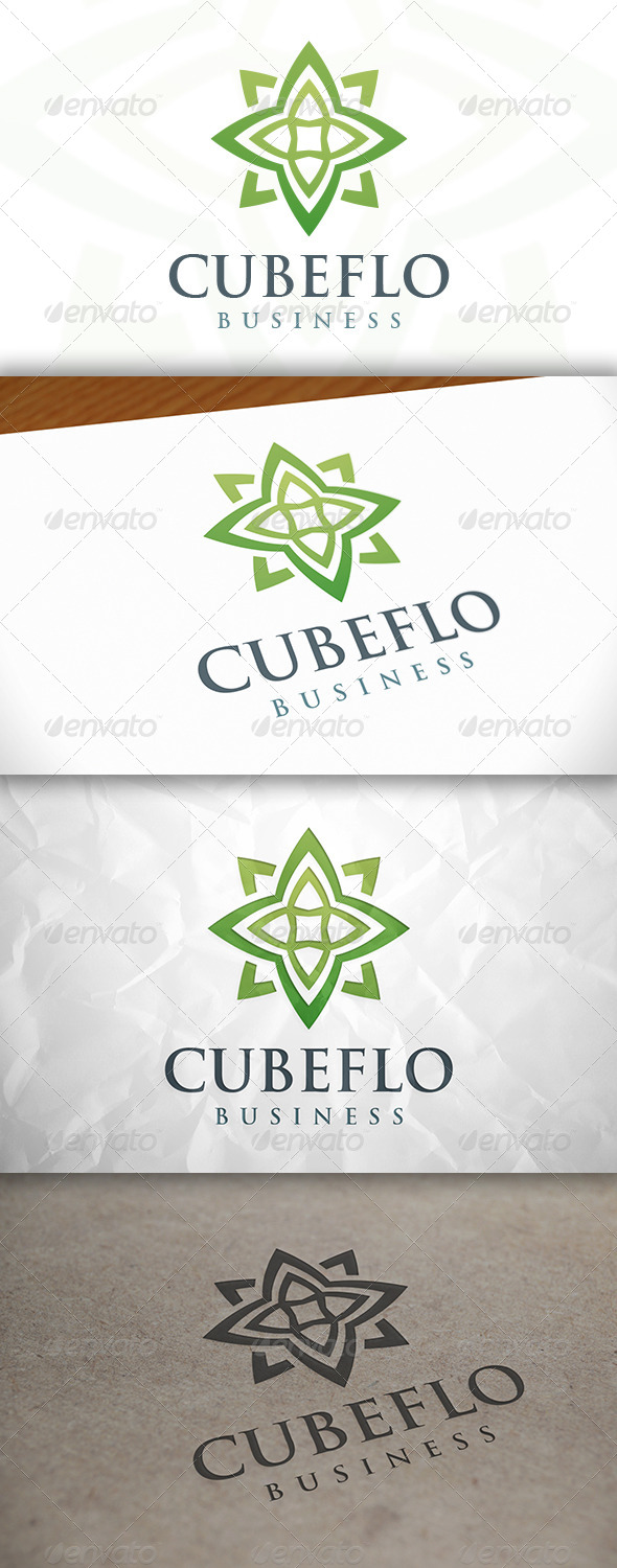 GraphicRiver Cube Flower Logo 8633898