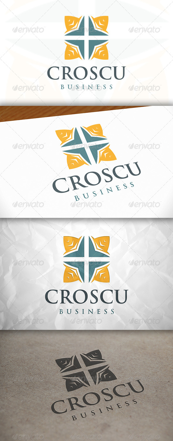 GraphicRiver Cross Square Logo 8634195