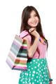 Close up beautiful woman with shopping bags - PhotoDune Item for Sale