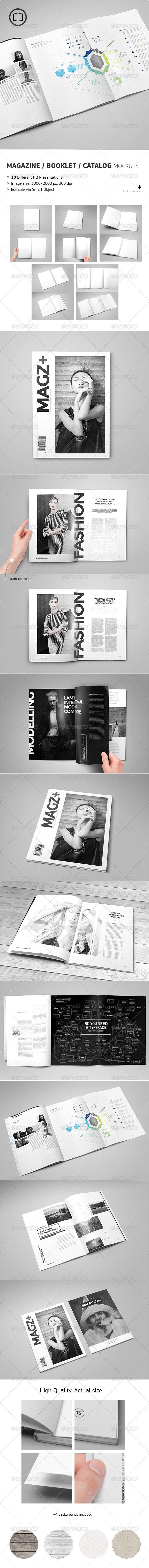 GraphicRiver Magazine Catalog Booklet Mock-Up 8634242