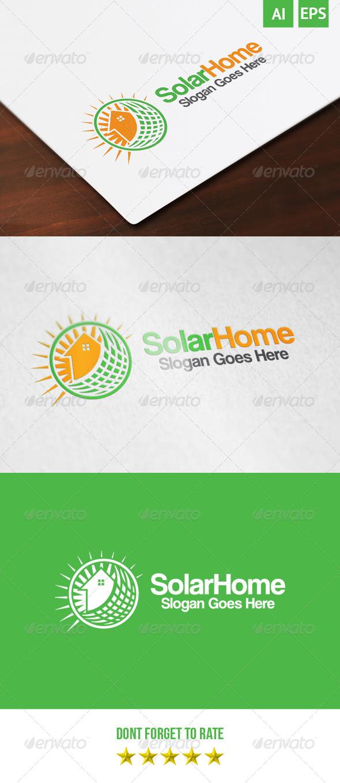 GraphicRiver Solar Home Logo 8634455