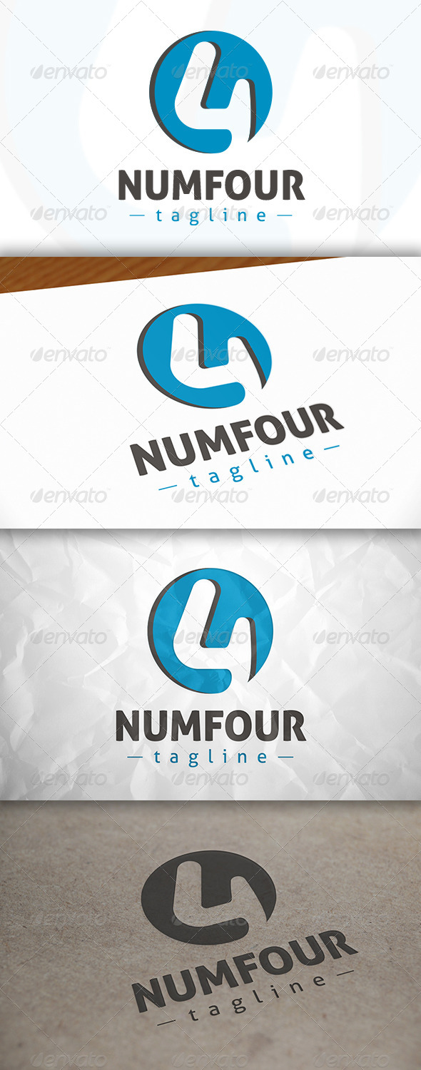 GraphicRiver Number 4 Logo 8634472