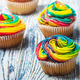 cupcakes covered with colored cream - PhotoDune Item for Sale