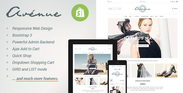 ThemeForest Avenue Responsive Shopify Theme 8537699