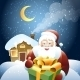 Santa Claus with Christmas Gift - GraphicRiver Item for Sale